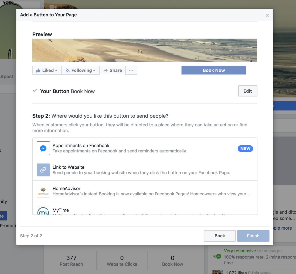 how to facebook appointment 03