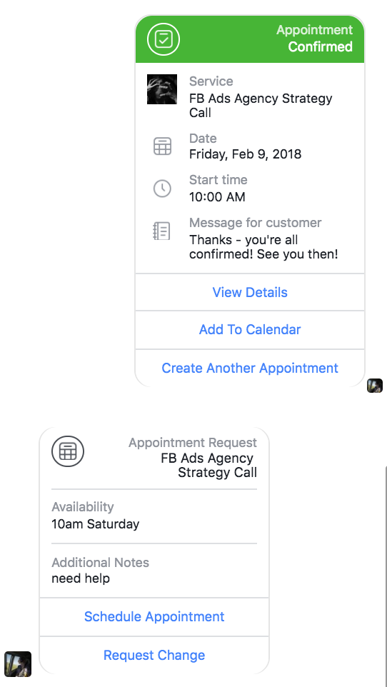 how to facebook appointment 05